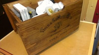ワイン箱風収納BOX 塗装完了