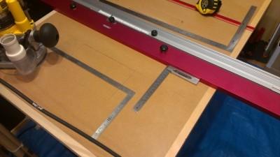 01 ルーターテーブル製作 計測