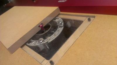 07 ルーターテーブル フェンス製作 Tスロット