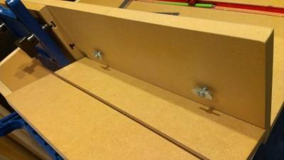 11 ルーターテーブル フェンス製作 スライドフェンス取付