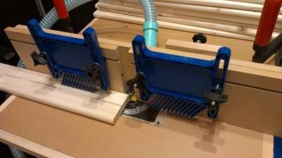食器棚製作 05 丸面ビット加工2
