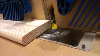 食器棚製作 04 丸面ビット加工1
