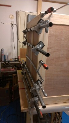 食器棚製作 16 組み立て1
