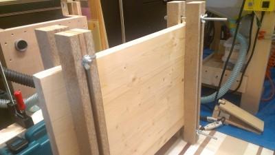 食器棚製作 15 棚板粗利防止