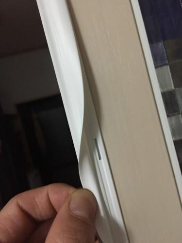 食器棚の扉の修理 4 ムシむしパッキンII タッカー止め